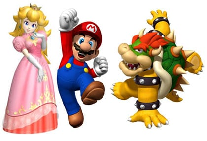 mario peach princess bowser