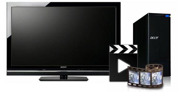 Media Center (Centro multimedia) para reproducción de vídeos, películas o series.