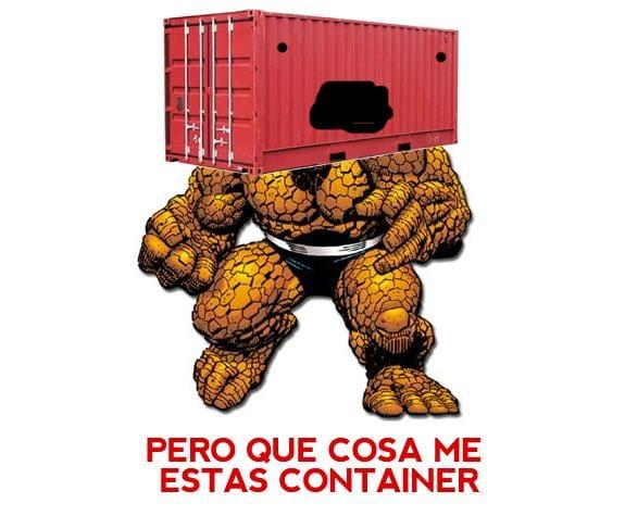 Meme: La Cosa (Que Cosa me estás container)
