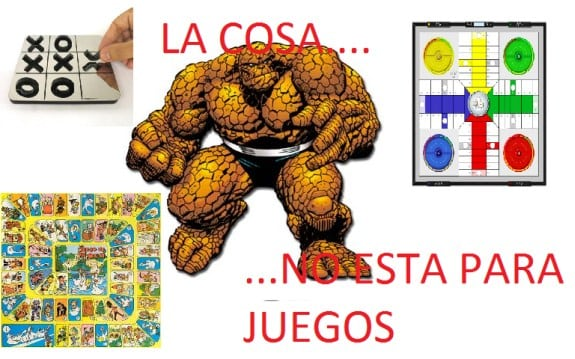 Meme: La Cosa (La Cosa no está para juegos)