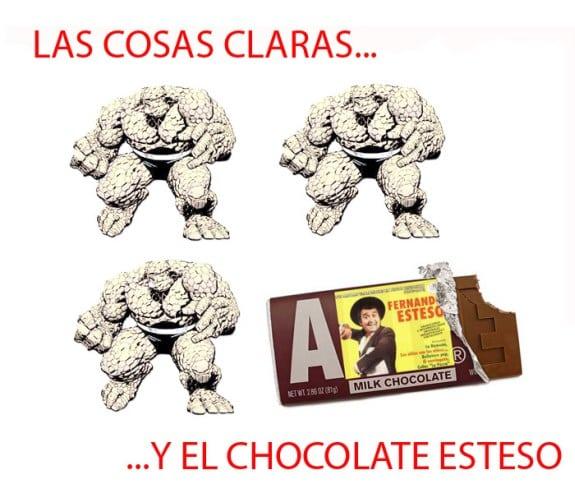 Meme: La Cosa (Las Cosas claras y el chocolate Esteso)