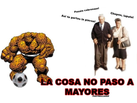 Meme: La Cosa (La Cosa no pasó a mayores)