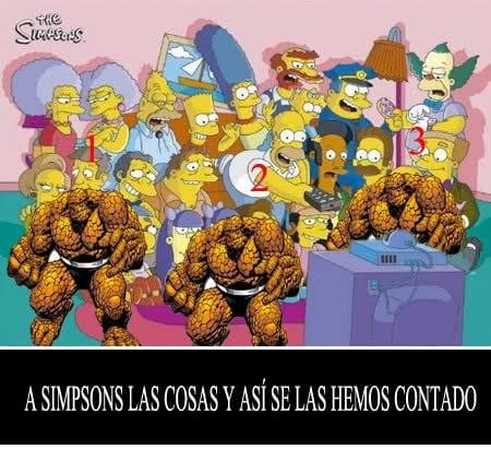 Meme: La Cosa (A Simpsons Las Cosas y así se las hemos contado)