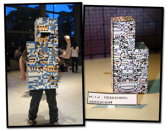 Pokémon: Cosplay y recortable (papercraft) de MissingNo.