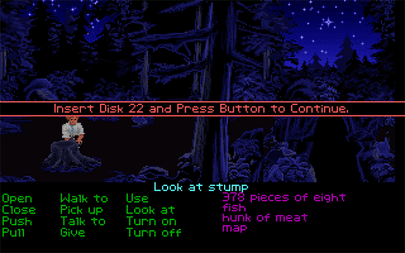 monkey island stump error disk 22 bosque