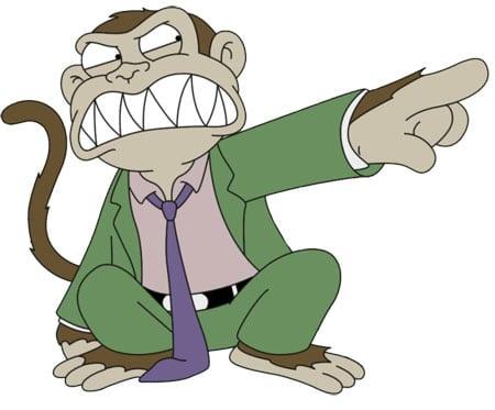 mono malvado padre familia