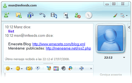 imfeeds msn messenger windows live