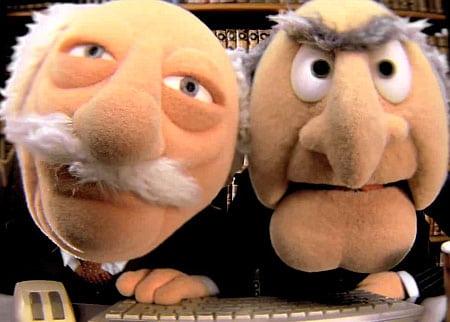 viejos muppets statler waldorf