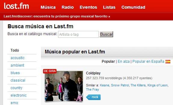 last fm escuchar musica internet gratis
