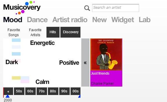 musicovery escuchar musica internet gratis