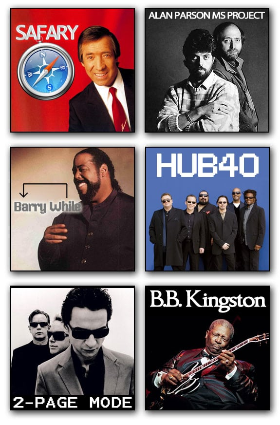 musicos PC informaticos fary alan parson project barry white ub40 depeche mode bb king
