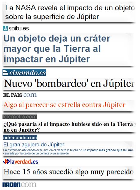 news júpiter titulares