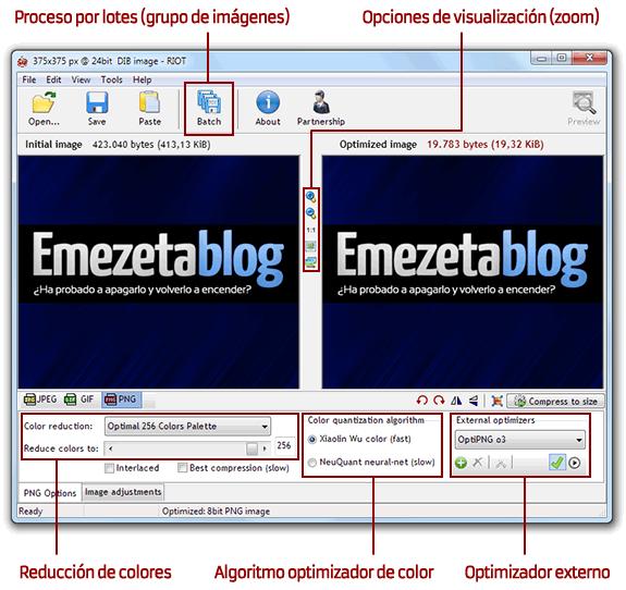 Una imagen PNG no entrelazada y una imagen PNG entrelazada (carga progresiva).