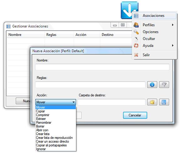 DropIt!: Organizar archivos bajo perfiles arrastrando a una zona