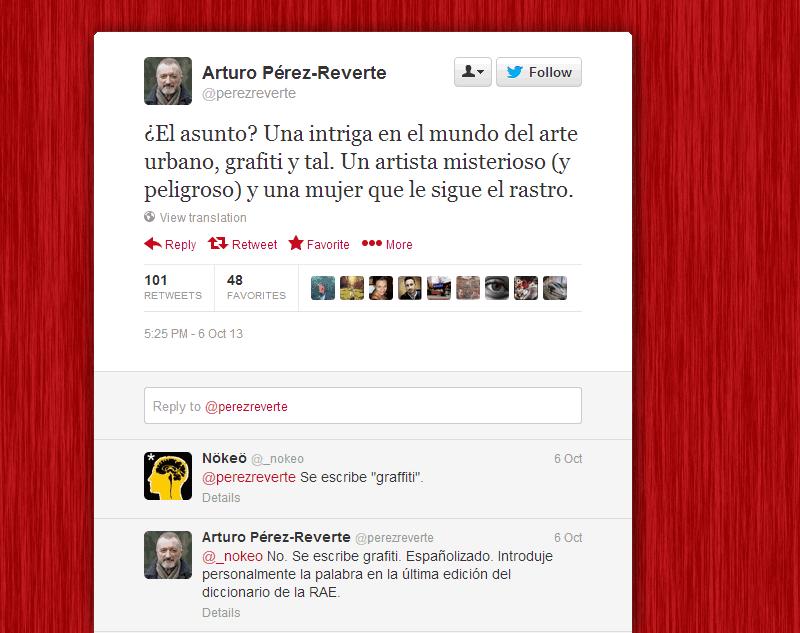 Arturo Pérez-Reverte en Twitter