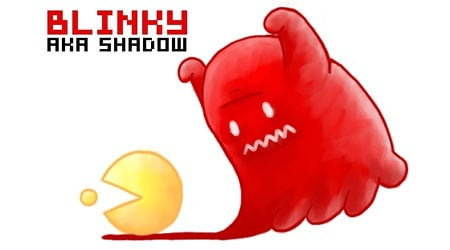 pacman fantasma rojo blinky shadow