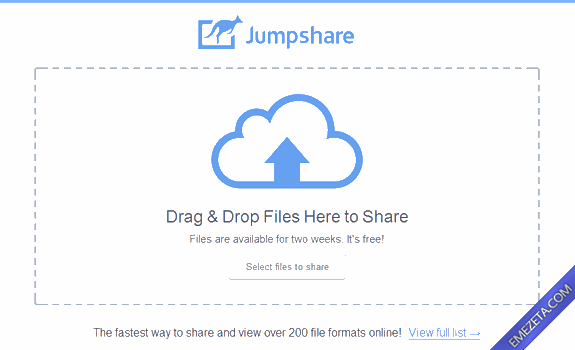 Páginas para subir o compartir archivos: Jumpshare