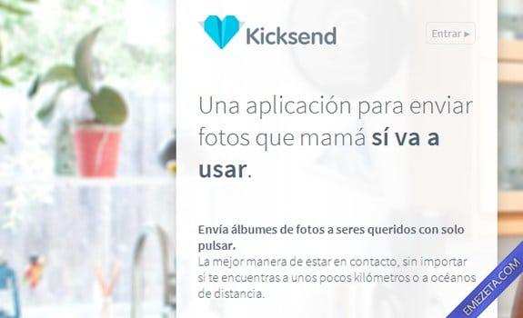 Páginas para subir o compartir archivos: Kicksend