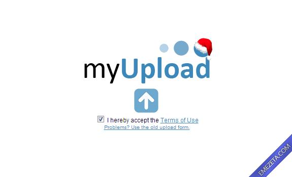 Páginas para subir o compartir archivos: Myupload