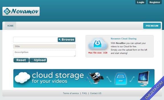 Páginas para subir o compartir archivos: Novamov