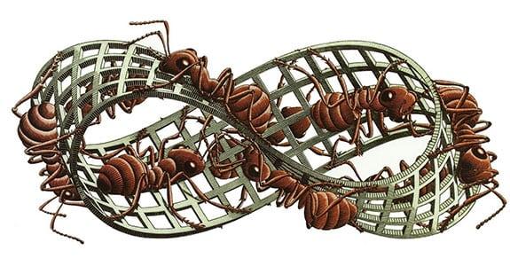 La paradoja de la cinta de Moebius (matemáticas)
