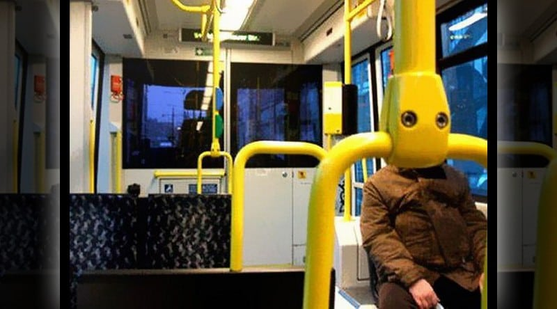 Pareidolia: Man bot bus