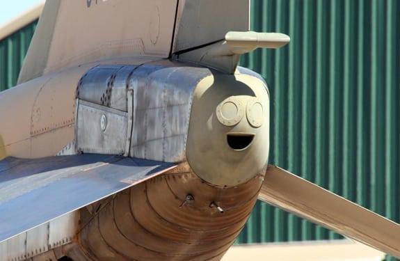 Pareidolia (rostros o figuras en imágenes): El trasero de avión más feliz del mundo