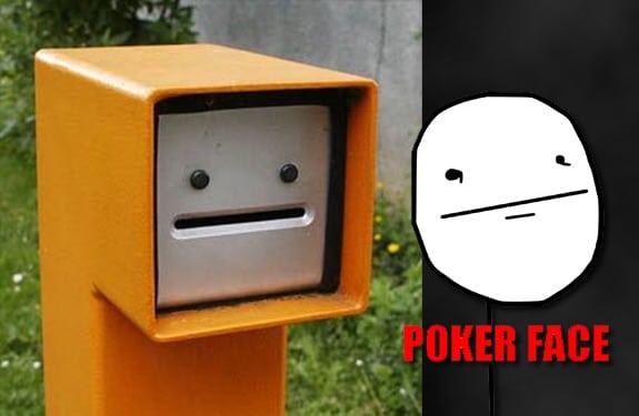 Pareidolia (rostros o figuras en imágenes): Parking Poker face