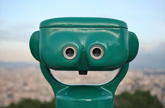 Pareidolia (rostros o figuras en imágenes): Prismáticos felices