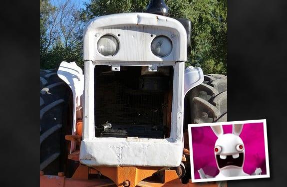 Pareidolia (rostros o figuras en imágenes): Tractor Rabbids