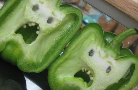 Pareidolia (rostros o figuras en imágenes): Vegetales miedosos