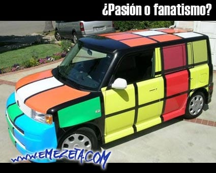 pasion o fanatismo coche rubik