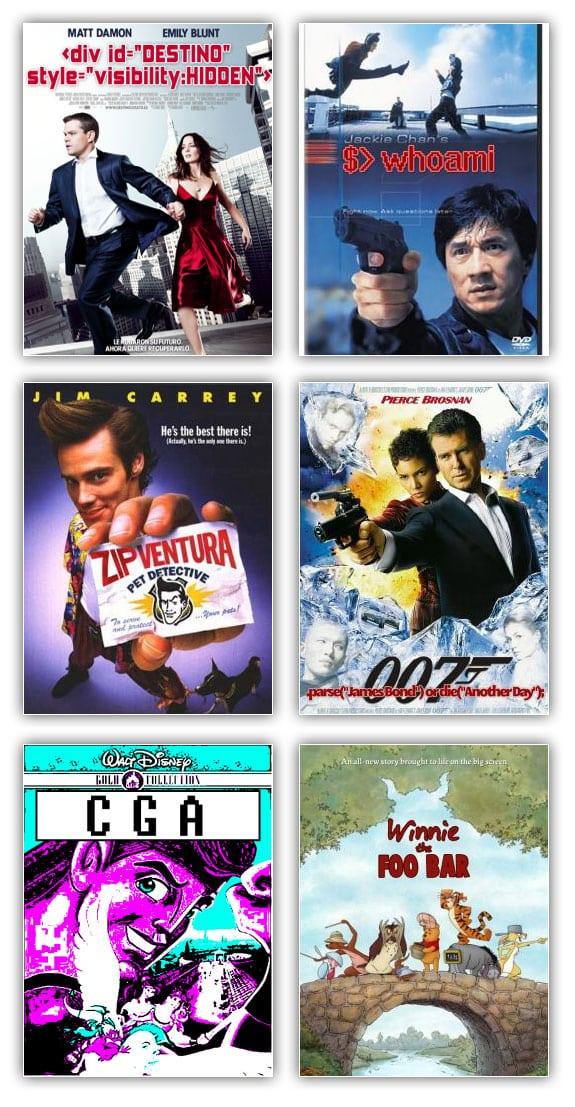 Peliculas informaticas: destino oculto, whoami, zip ventura, 007 die another day, cga hercules, winnie the foobar