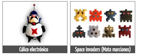 peluches calico electronico space invaders invasores