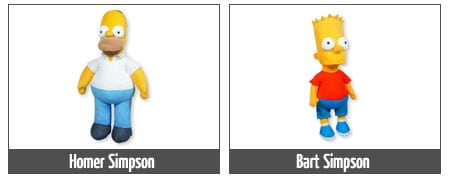 peluches homer bart maggie marge lisa simpson
