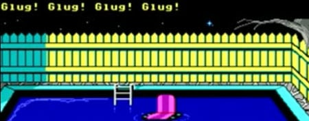 agua piscina maniac mansion