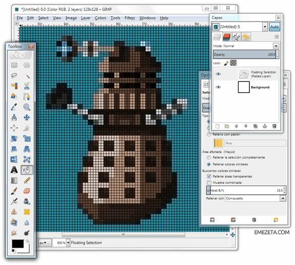 Programas para hacer pixel art: GIMP