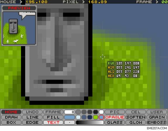 Programas para hacer pixel art: MOAI