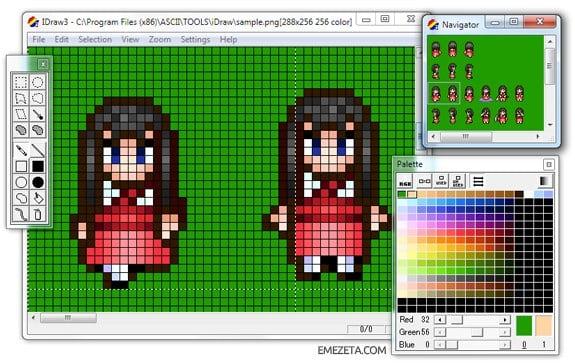 Programas para hacer pixel art: Idraw3