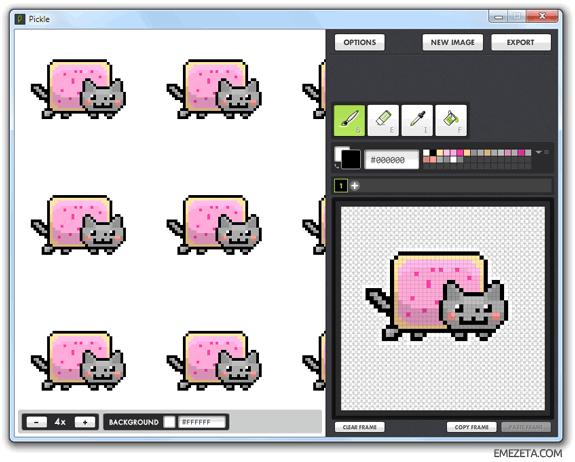 Programas para hacer pixel art: Pickle