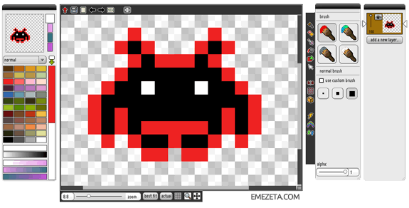 Programas para hacer pixel art: Piq advanced