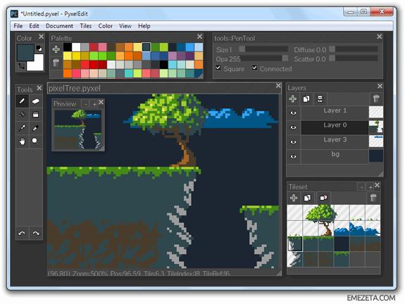 Programas para hacer pixel art: Pyxeledit