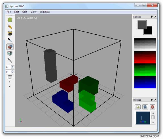 Programas para hacer pixel art: Sproxel