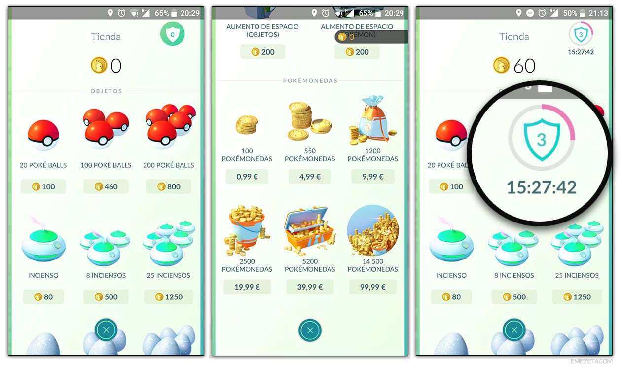 Tienda: Conseguir pokemonedas
