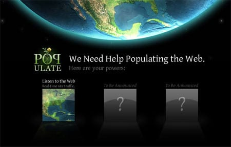 populate the web