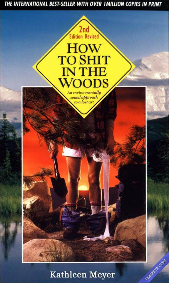 Portadas desconcertantes: How to shit in the woods