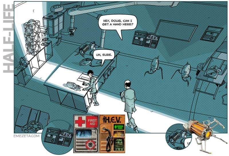 Half-life en el comic de Portal