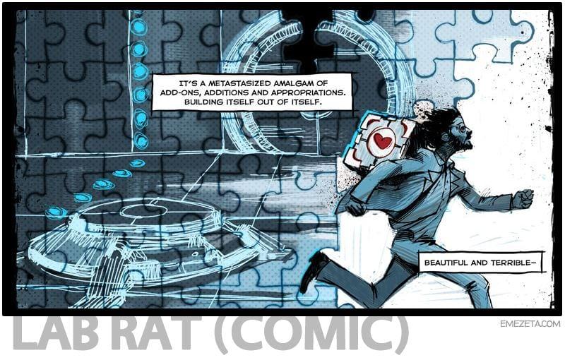 Portal 2: Lab Rat comic (Doug Rattmann)