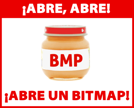 Abre, abre... Abre un bitmap.