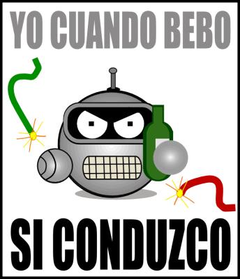 Bender: Yo cuando bebo, si conduzco.